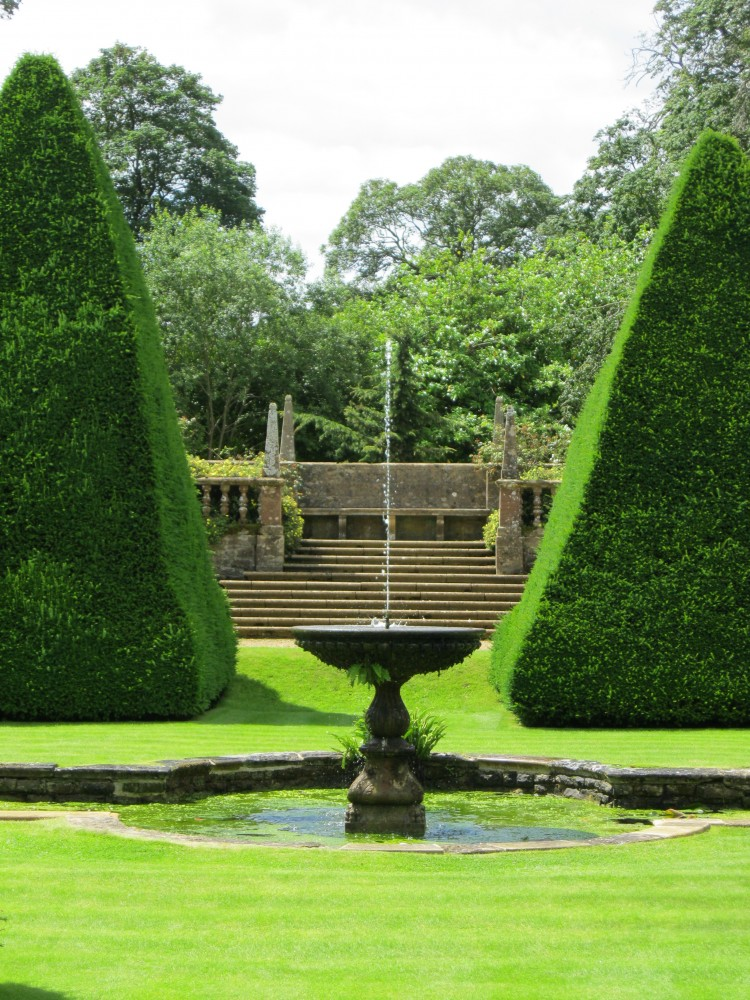 The Great Court – yew pyramids