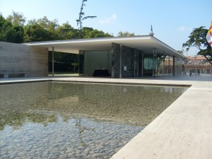 The Pavilion seen across The Main Pool
