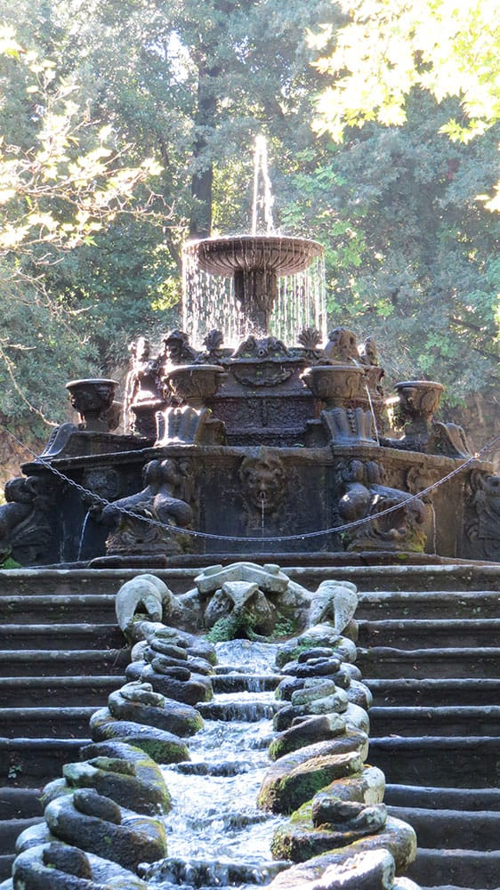 The Water Chain and The Fountain of the Dolphins