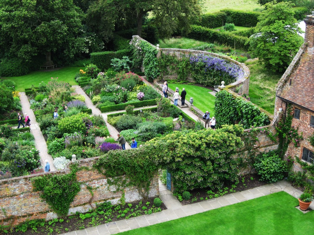 View from the tower towards the Rose Garden