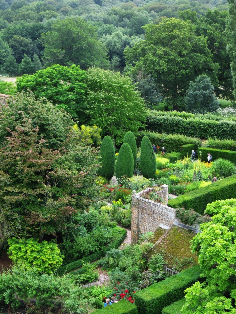 View from the tower towards the Cottage Garden