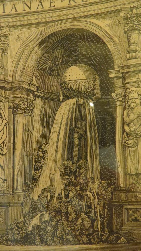 Engraving of the Atlas Fountain