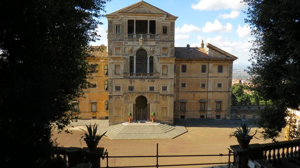 Rear Facade of the Villa and Courtyard