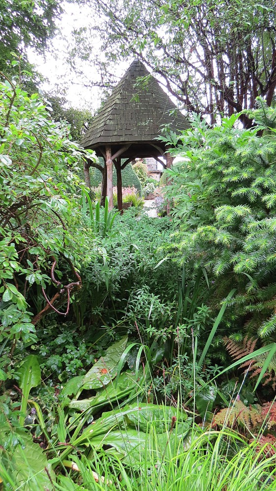 The Hexagonal Folly from the Dell Garden