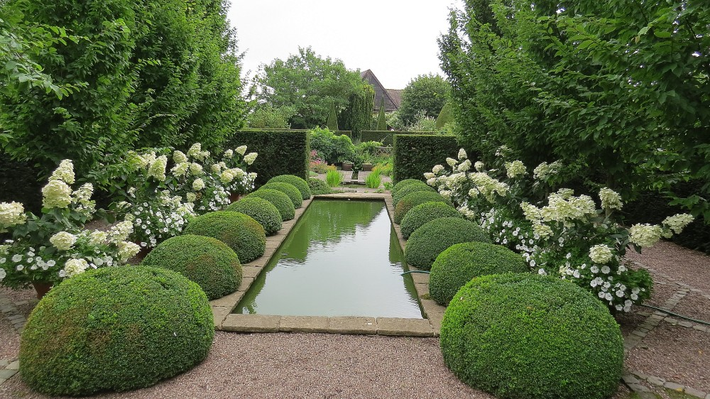 Looking from the Upper to the Lower Rill Garden