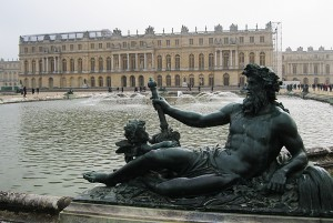 The Water Parterre and West Facade of the Palace