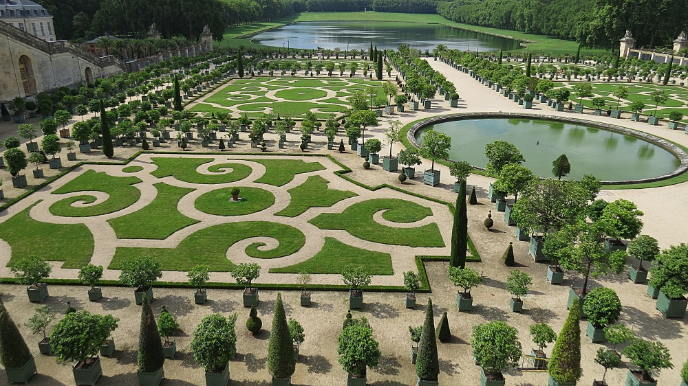 The Orangerie Parterre in Summer