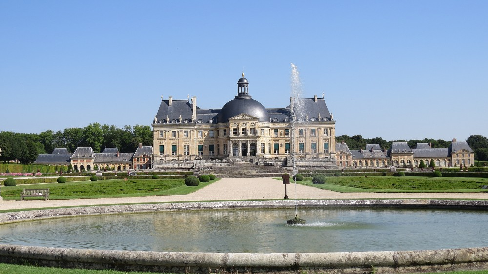 The Chateau on its raised platform from the Rond d'Eau