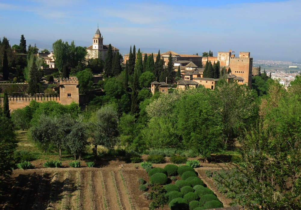 Valley looking across to the Alhambra