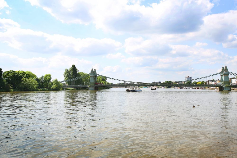 The Statue Site – View Up River