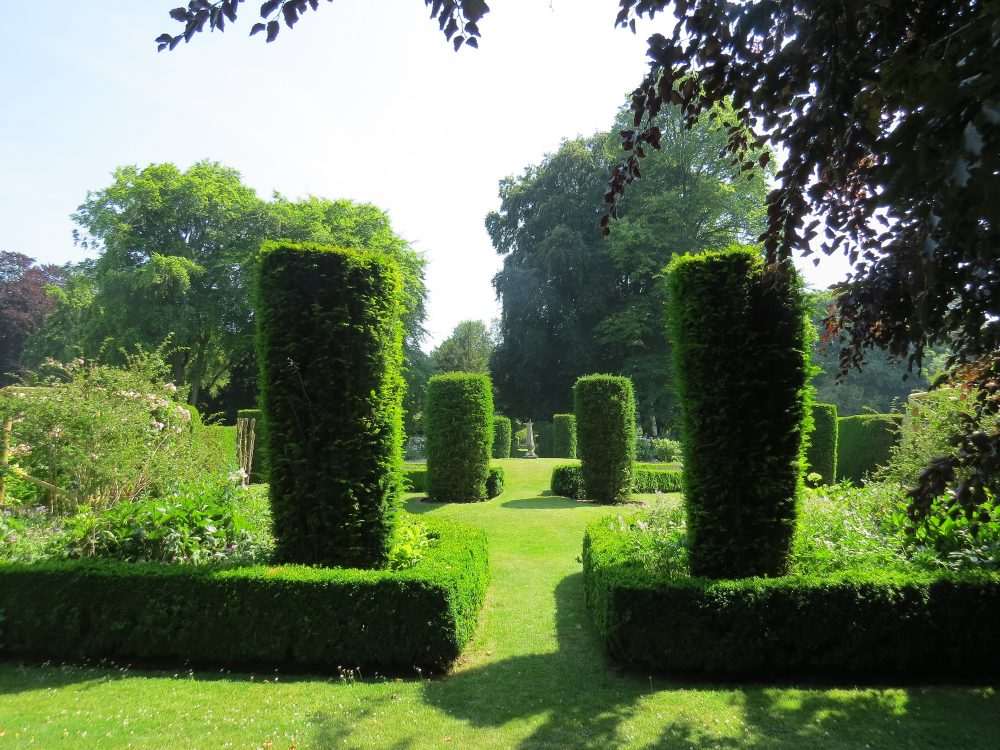 Yew Pillars of the Sundial Garden