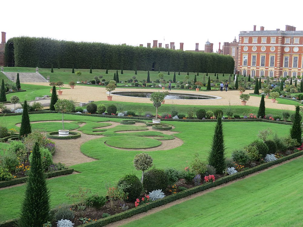 Overview of The Privy Garden from the East Promenade