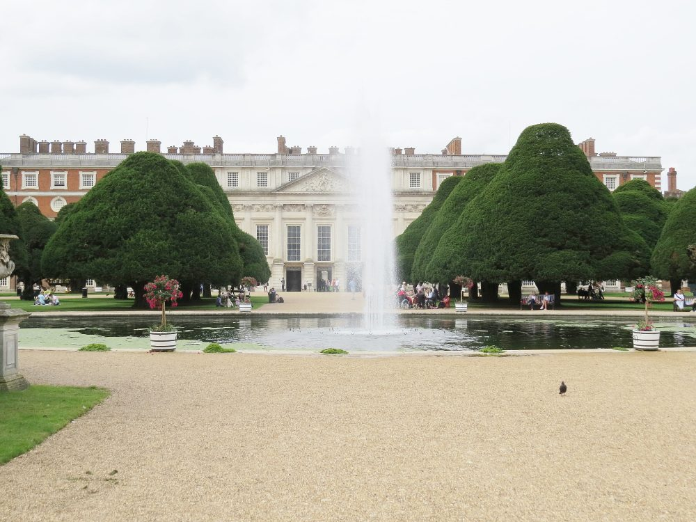 View from The Great Fountain Garden towards the Palace