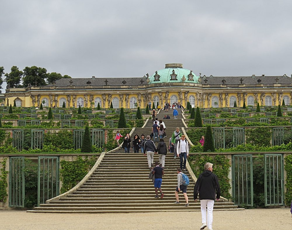 Sanssouci Palace from the Great Fountain.
