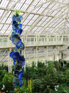 The Main Glass House with the Chihuly Glass Sculpture 'Temperate House Persians'