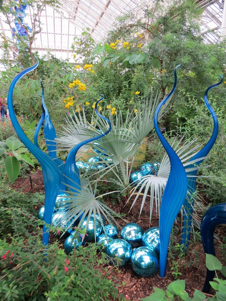 Planting and Chihuly Glass